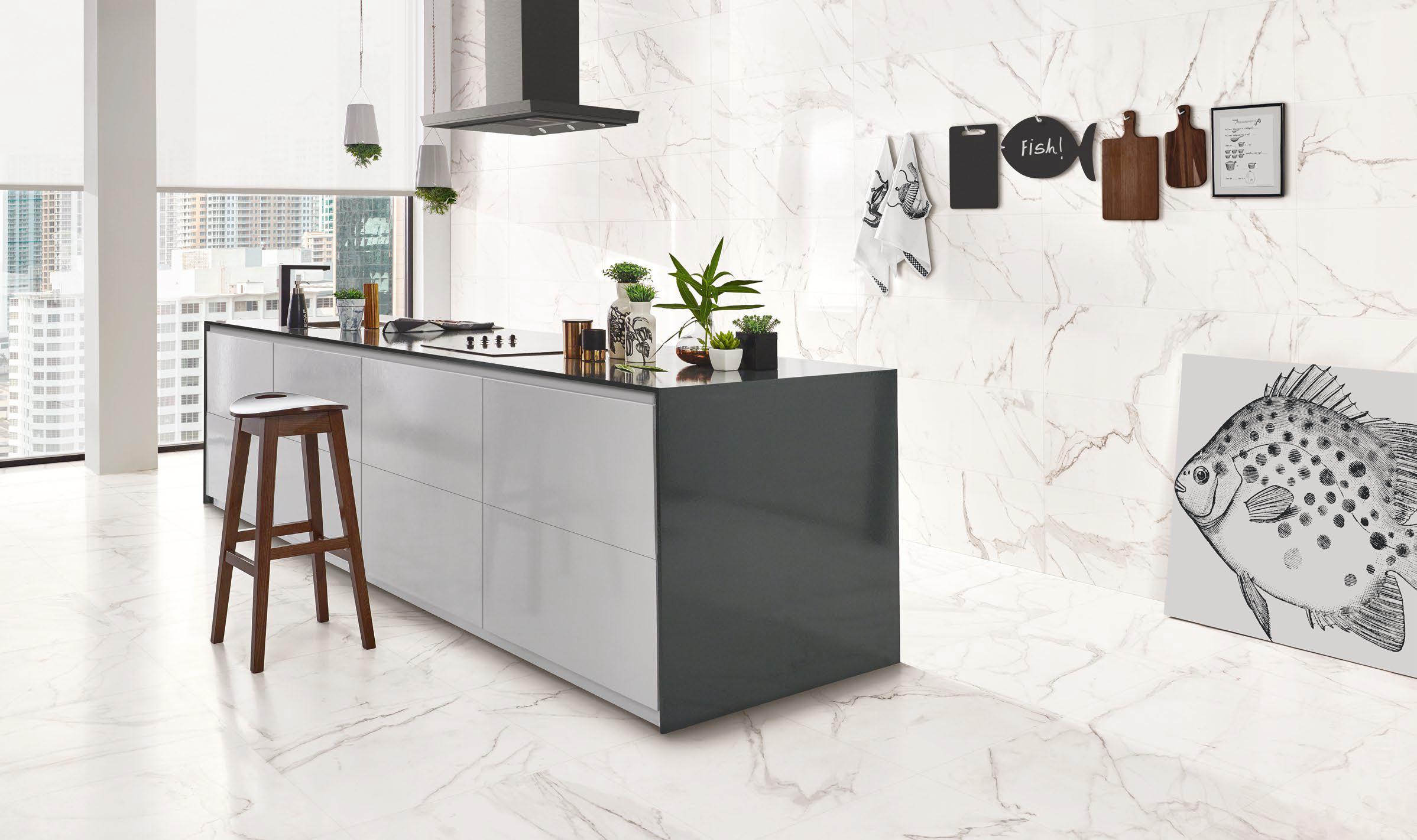 Calcatta Porcelain Marble Effect Tile Nick Firth Tiles