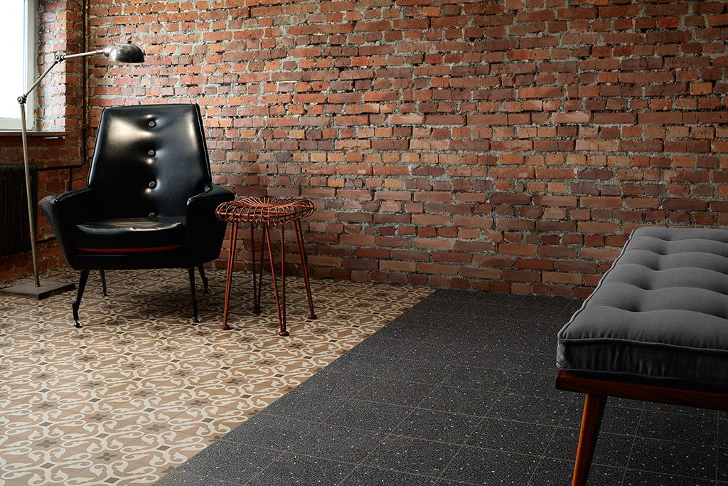 Cementine retro patchwork effect tile nick firth tiles