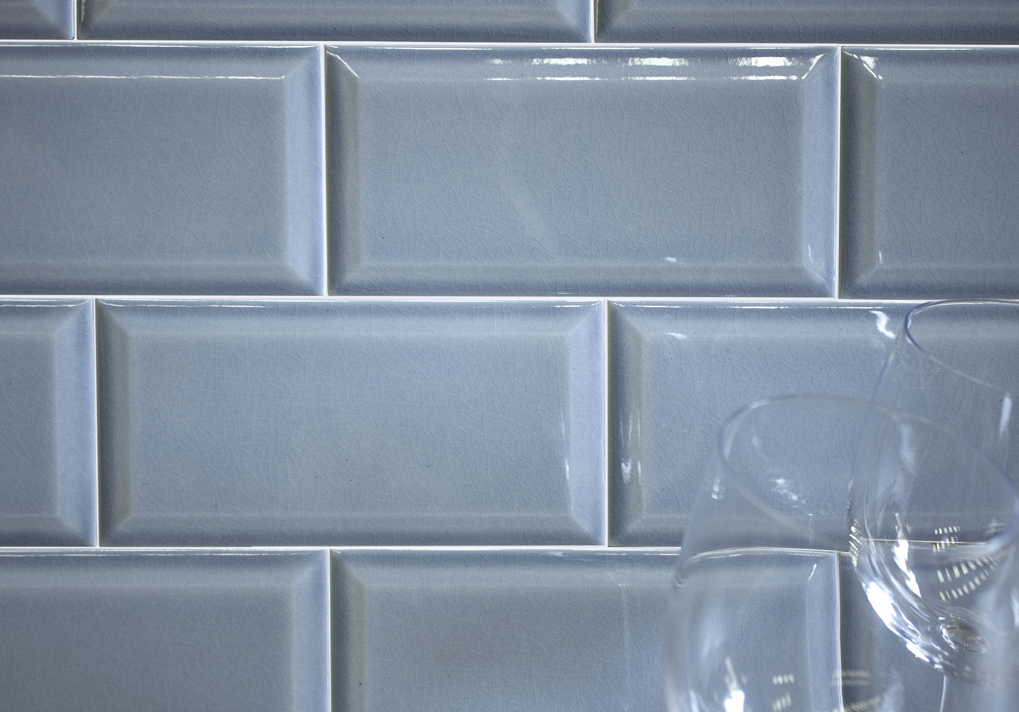 Craquele Bevel Tile Glazed Ceramic Wall Tile Nick